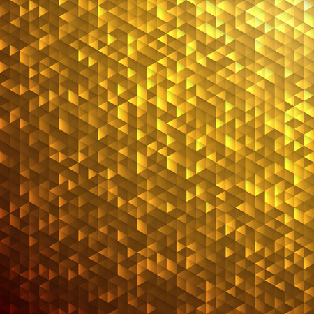 Gold yellow glittering lamina sequins mosaic angular dimensional pattern.
