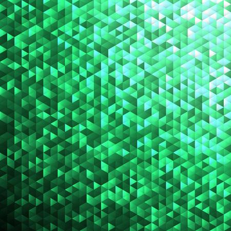 lamina: Green glittering lamina sequins mosaic angular dimensional pattern. Illustration