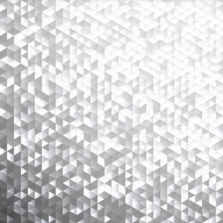 Silver gray glittering lamina sequins mosaic angular dimensional pattern. Vectores