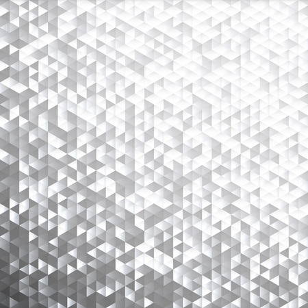 Silver gray glittering lamina sequins mosaic angular dimensional pattern. Stock Illustratie