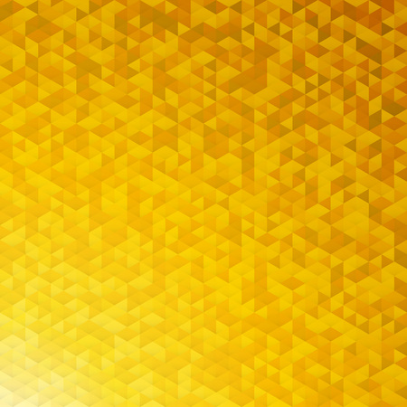 background texture: Gold yellow glittering lamina sequins mosaic angular dimensional pattern.