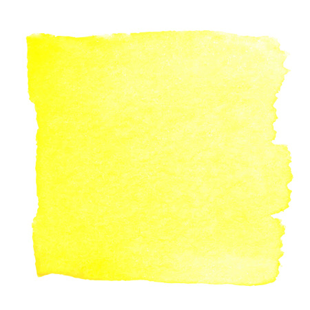at yellow: Yellow watercolour abstract square painting. Hand painted aquarelle art.
