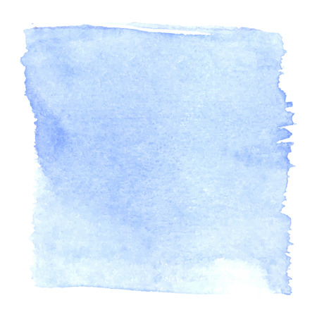 Light blue watercolour abstract square painting. Hand painted aquarelle art. Vettoriali