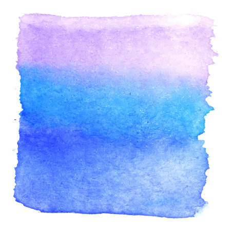 hand painted: Blue viole watercolour abstract square painting. Hand painted aquarelle art.