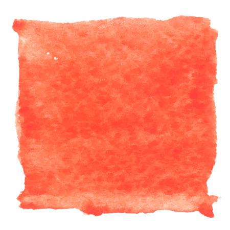 Red aquarelle peinture abstraite carré. Peinte à la main l'art de l'aquarelle. Illustration