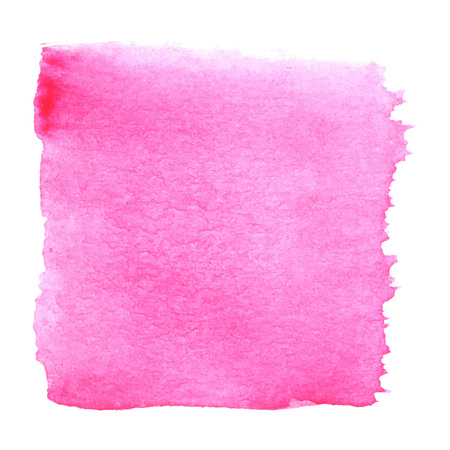 aquarelle: Pink watercolour abstract square painting. Hand painted aquarelle art.