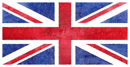 uk flag: Watercolor hand painted UK flag, watercolor British flag Stock Photo