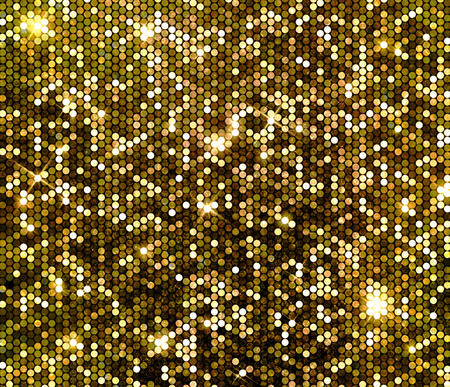 diamonds pattern: Gold sparkle glitter background. Glittering sequins wall.