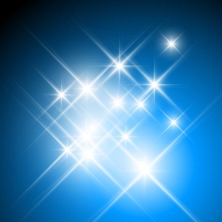 Vektor glitzernden Sterne mit Lichtbeugung Standard-Bild - 47749706