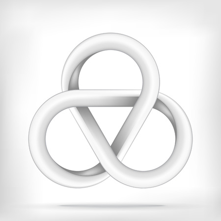 tripple: Pentagonal star shape infinite mobius loop graphic icon Illustration