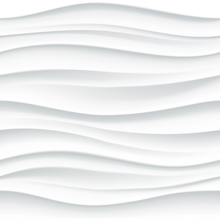 Vector white seamless wavy tile textured panel background