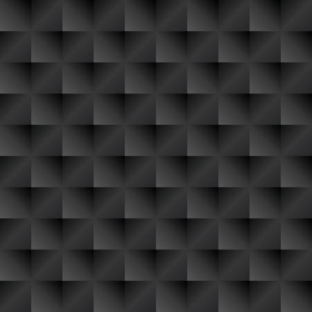 wall decoration: Seamless black peaked tile texture. Cuspidal peaked panel.