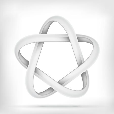 mobius loop: Pentagonal star shape infinite mobius loop graphic icon Illustration