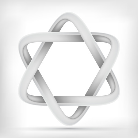 mobius loop: Hexagonal  star shape infinite mobius loop graphic icon