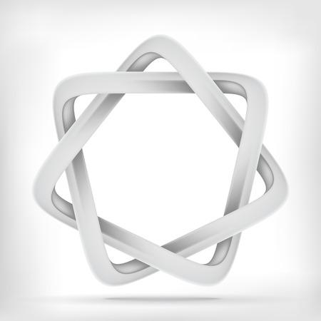 bucle: Forma de estrella Trinagular icono gráfico bucle infinito mobius