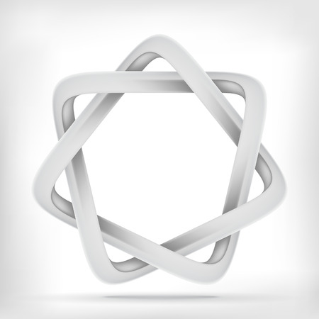 mobius loop: Trinagular star shape infinite mobius loop graphic icon Illustration
