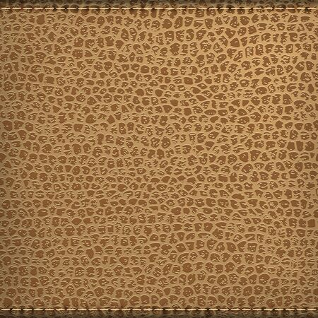 Brown natural leather texture background with stitch