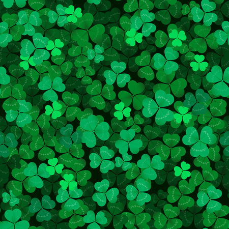 seamless clover: Seamless clover leaves textured background