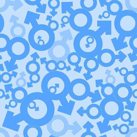 masculine: Male Mars signs seamless pattern background