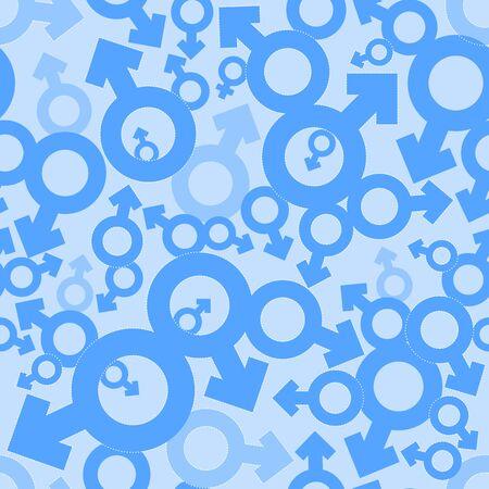 gender symbol: Male Mars signs seamless pattern background