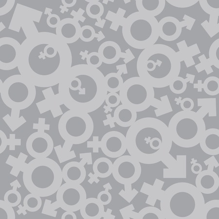 mars: Venus and Mars male and female signs seamless pattern background