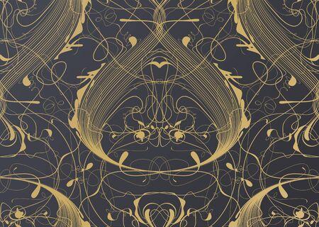 classic interior: Fashion seamless floral classic interior wallpaper pattern