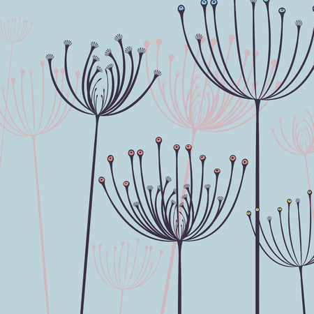 imprint: Abstract floral pattern. Flower imprint background design. Illustration
