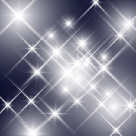 Vector glittering stars sparkle with lesflare effect