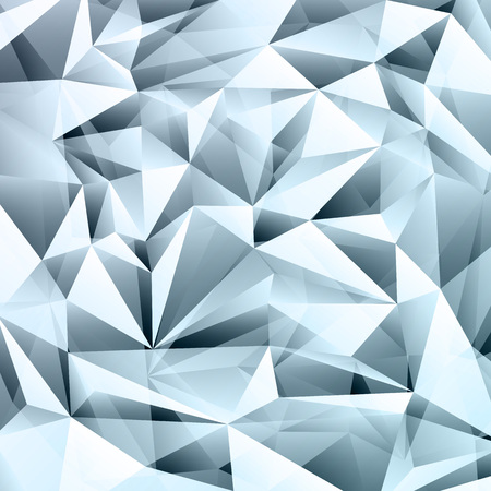 Blue abstract crystal fractals texture background Illustration