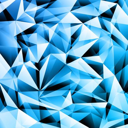 青の抽象的な結晶のフラクタル テクスチャ背景
