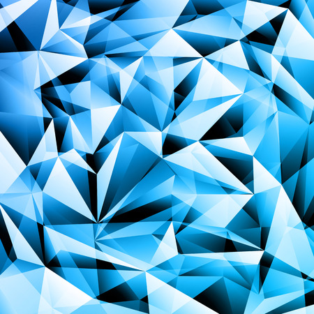 diamond texture: Blue abstract crystal fractals texture background Illustration