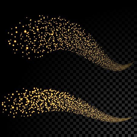 oro stelle scintillanti coda di polveri scintillanti glitter.