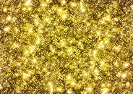 glittering: Gold sparkle glitter background. Glittering wall panel. Stock Photo