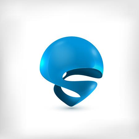 entwurf: Abstract 3d Kugel wirbelte dynamische Symbol
