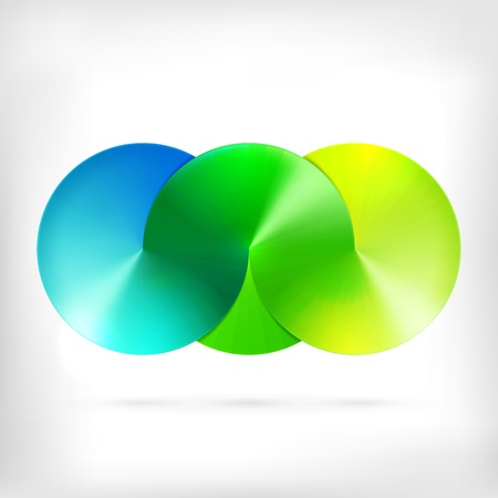 circle design: Infinity shape round dimensional circle icon. Lollipop style.