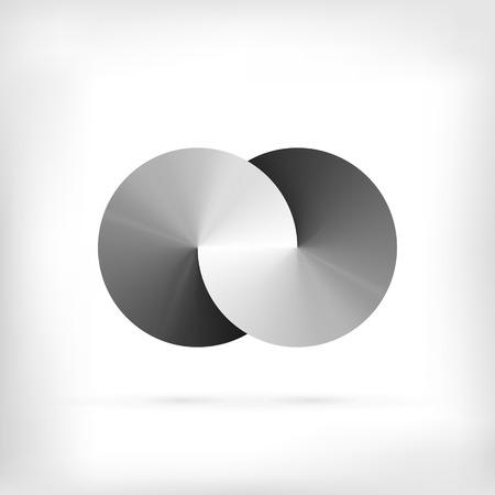 simbolo infinito: Forma Infinity ronda icono del círculo dimensional. Estilo Lollipop.
