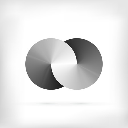 infinity icon: Infinity shape round dimensional circle icon. Lollipop style.