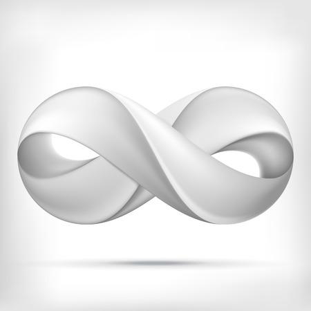 signo infinito: Forma Infinity ronda icono del círculo dimensional. Estilo Lollipop.