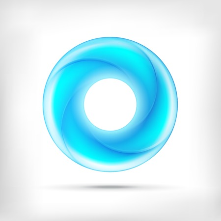 round shape: Infinity shape round dimensional circle icon. Lollipop style.