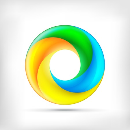 circle shape: Infinity shape round dimensional circle icon. Lollipop style.