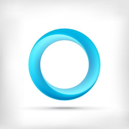 無限大の形はラウンド寸法の円のアイコンです。ロリポップのスタイル。