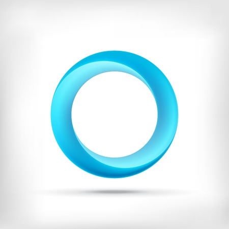 abstract swirls: Infinity shape round dimensional circle icon. Lollipop style.