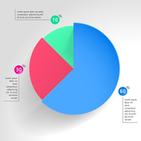 ビジネス パイ図グラフのシェア