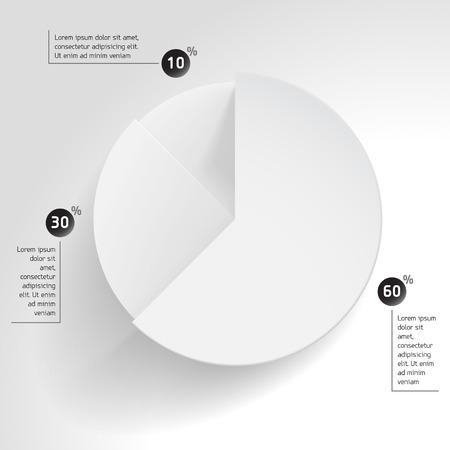 graficas de pastel: pastel de negocio gráfico de diagrama de cuota