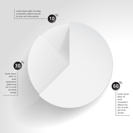 business pie diagram chart share