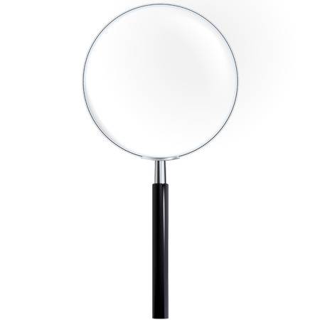 magnifier glass with handle and with true transparency