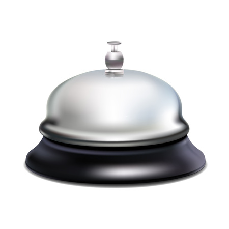 silver reflection: Vectro modl of isolated metal service bell