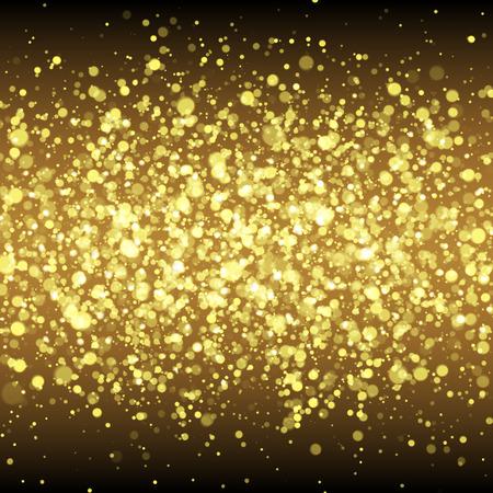 spangled: Gold glittering flare sparkles. Spangled stardust background.