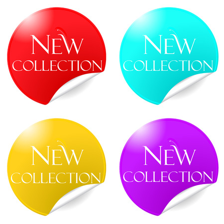 merchandising: Vector merchandising color stickers tags for promotion Illustration