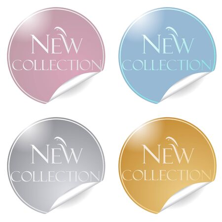 BANNER DESIGN: Vector merchandising color stickers tags for promotion Illustration